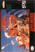 Genghis Khan 2: Clan of the Gray Wolf SNES cover
