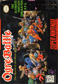 Ogre Battle: The March of the Black Queen SNES cover