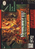 Romance of the Three Kingdoms IV: Wall of Fire SNES cover