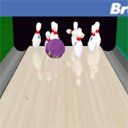 Brunswick Pro Bowling striking Wii
