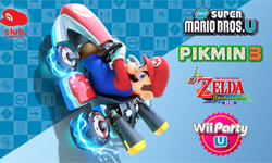 Receive a free downloadable game when registering Mario Kart 8