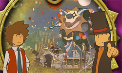 Layton puzzles on the Nintendo website