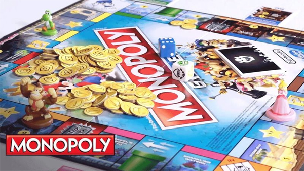 Monopoly Gamer Edition board and coins