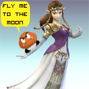 Zelda in Smash Bros Brawl