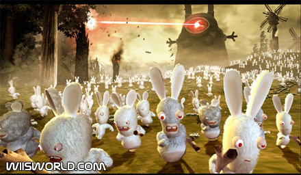 """Figurine collection /""""crazed rabbits invade the sports/"""" snowboard"""