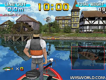 Sega bass fishing on wii for Bass fishing games
